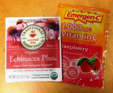 Echinacea and Emergen-C