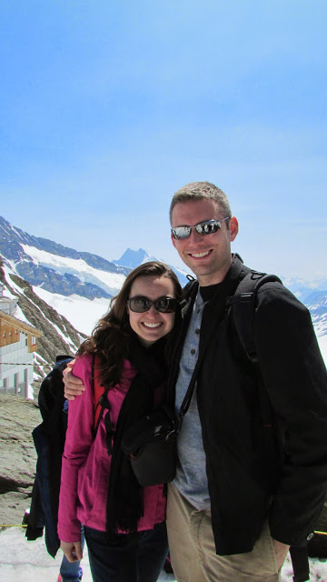 At the top of Jungfraujoch