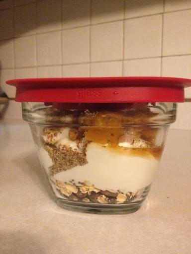 Pumpkin parfait container