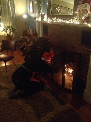 WHH starting a fire on Christmas eve.