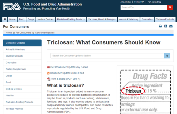 FDA triclosan