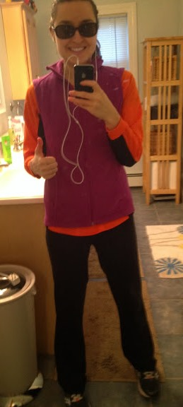 Giddy to go on my first outdoor run since August.