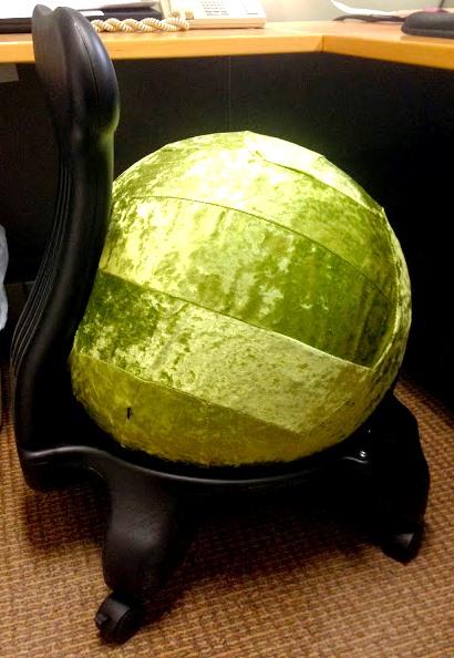 gaiam balanceball chair green