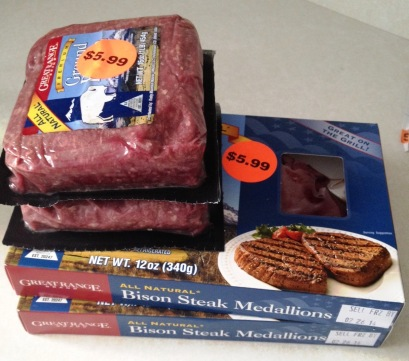 Bison meat on sale