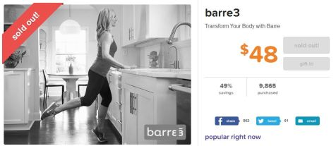 Living Social Barre3 28 to Great package deal