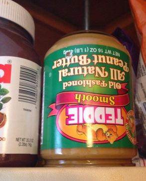 Teddie peanut butter upside down