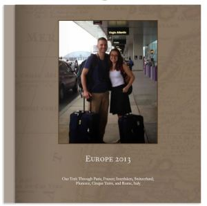 Europe vacation Shutterfly book