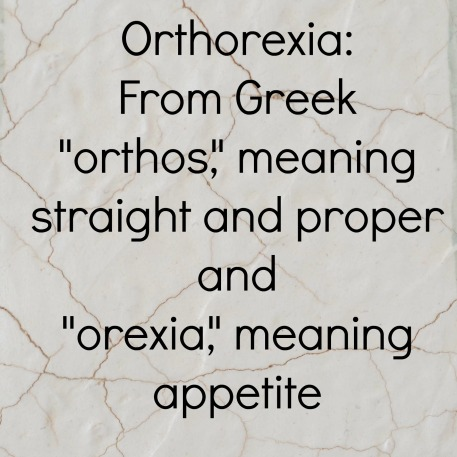 Orthorexia origins