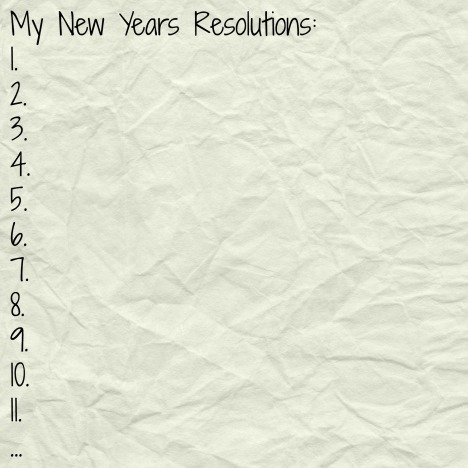 New Years Resolutions lis