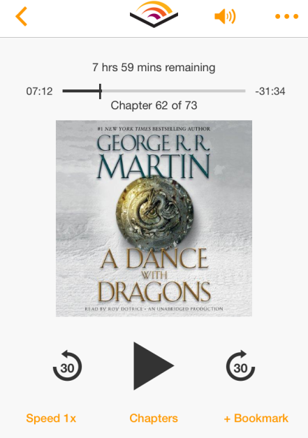 A Dance with Dragons Audible