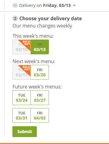 Plated delivery dates