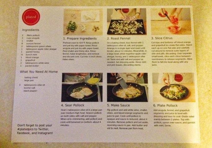 Pollock recipe card